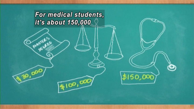 Still image from: Default: The Student Loan Documentary