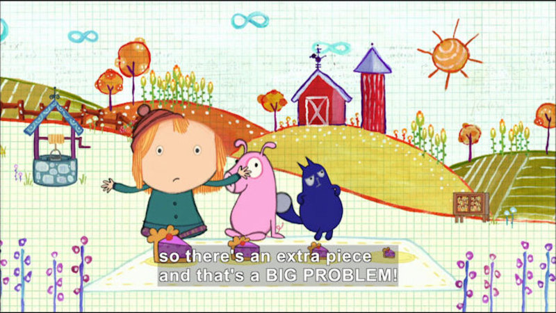 Still image from Peg + Cat: The Chicken Problem / The Space Creature Problem