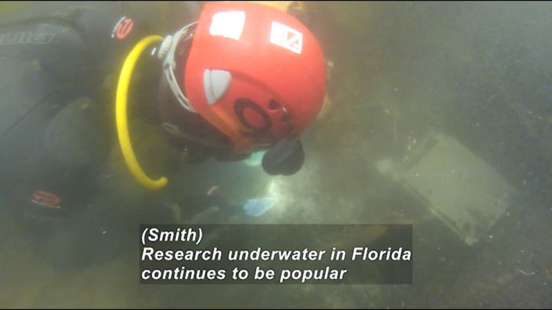 Still image from: Underwater Archeology: Excavating the Wacissa River