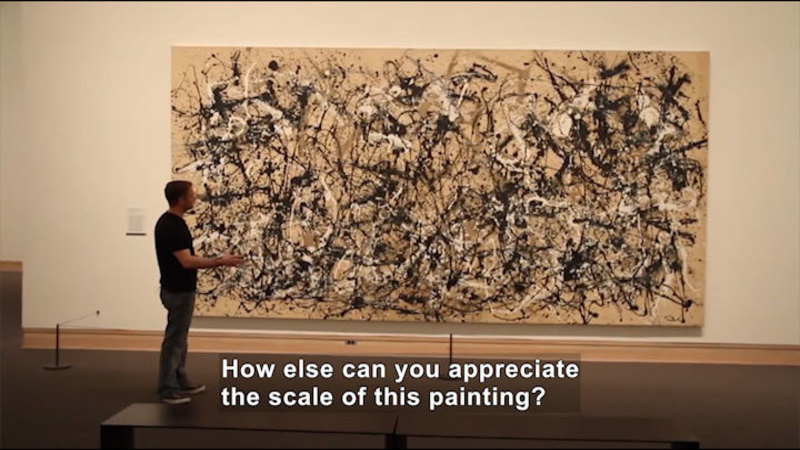 Still image from: SPLAT: Pollock and the Science of Paint Viscosity