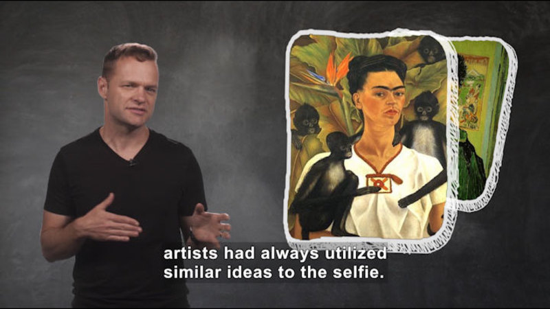 Still image from: The Selfie