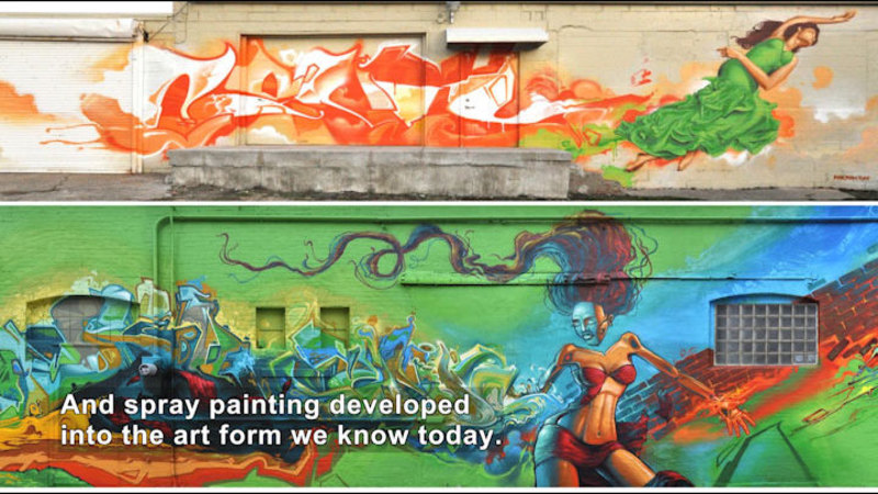 Still image from: The History of Spray Paint
