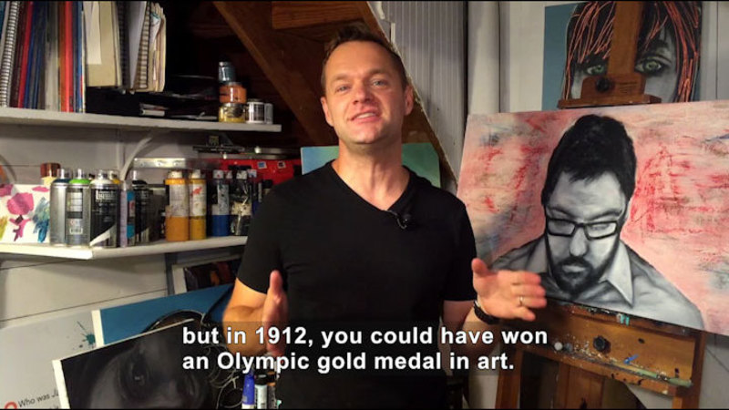 Still image from: Olympic Gold for Sculpture