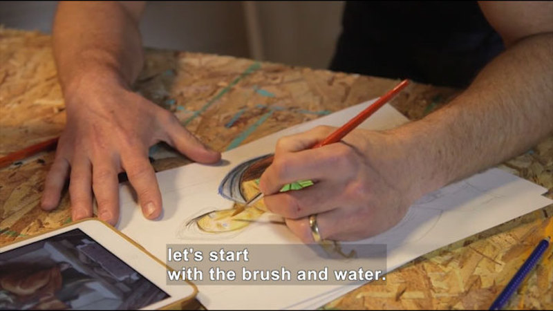 Still image from: How to Paint Michelangelo's Sistine Chapel in Bold Watercolors