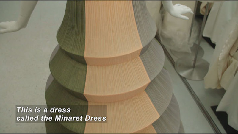 Still image from: Sculpture or Fashion? The Haute Couture of Issey Miyake