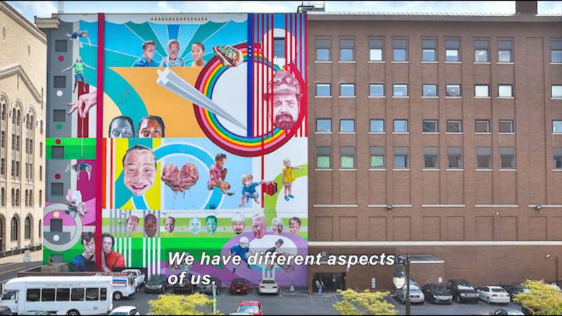 Still image from: Chicago's Mural Artist Is Jeff Zimmermann