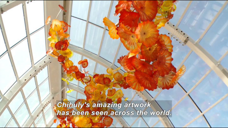 Still image from: Shattering the Mold: Chihuly and the Science of Glass Blowing
