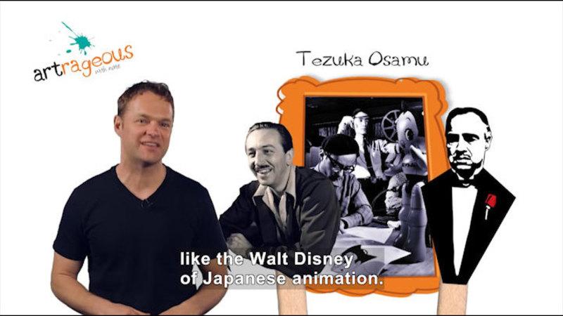 Still image from: How Osamu Tezuka Defined the Art of Manga