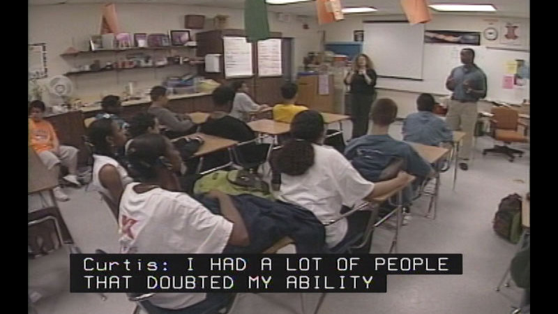 Still image from Achieving Goals! Career Stories of Individuals Who Are Deaf and Hard of Hearing: DEAFinitely Dynamic (Curtis J. Pride, Baseball Player)