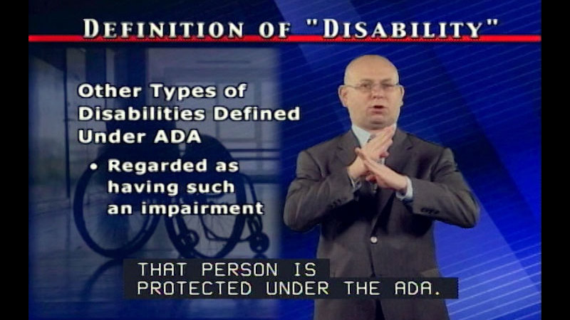 Still image from: The Americans With Disabilities Act: The Basics of the Americans With Disabilities Act (Part One)