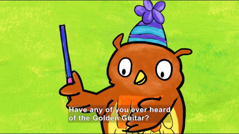Still image from Poppy Cat: Golden Guitar/Mystery Gift