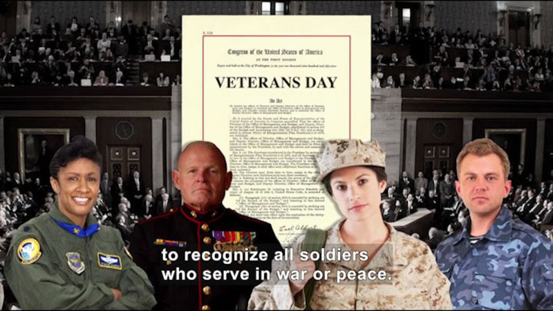 Still image from All About the Holidays: Veterans Day