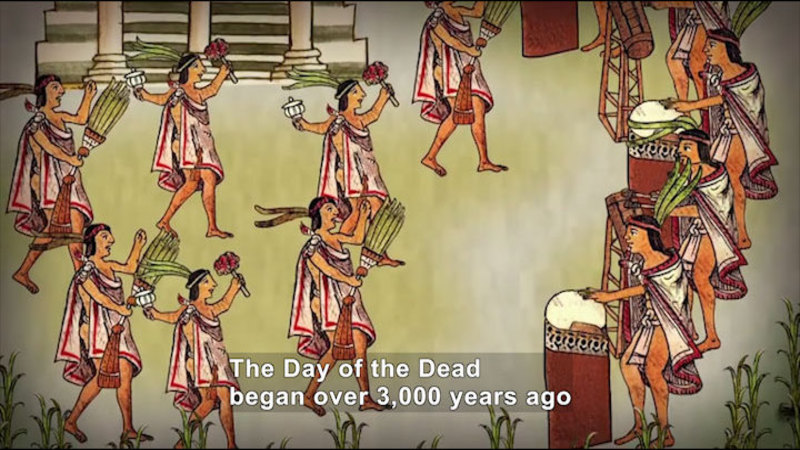 Still image from All About the Holidays: Día de los Muertos (The Day of the Dead)