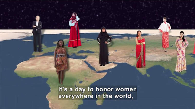 Still image from All About the Holidays: International Women's Day