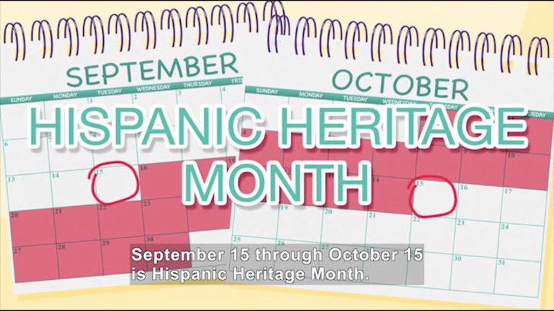 Still image from All About the Holidays: Hispanic Heritage Month