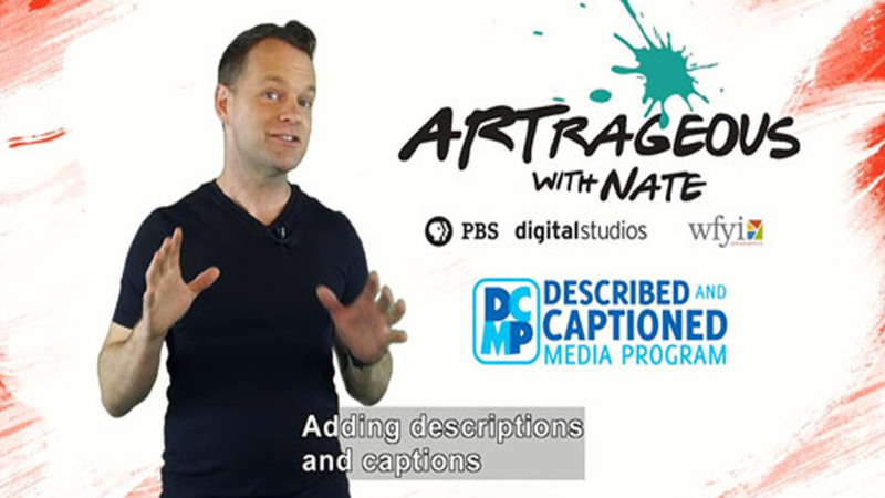 Still image from: Artrageous With Nate Promo