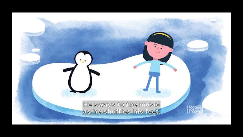 Still image from: Do the Penguin Shuffle