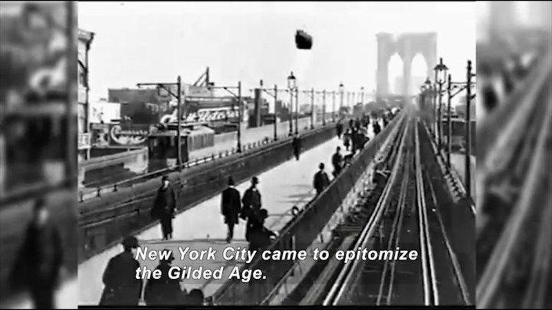 Still image from: The Gilded Age: Stanford White and Architecture for the Elite