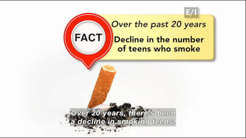 Still image from: Teen Kids News: Special on Tobacco (Smoking Overview)