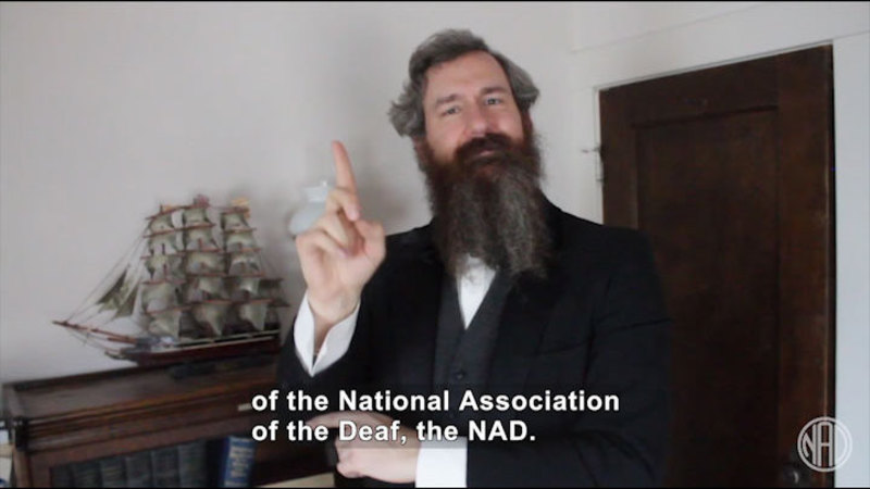 Still image from Deaf History That: Before the NAD