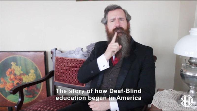 Still image from: Deaf History That: Laura Bridgman