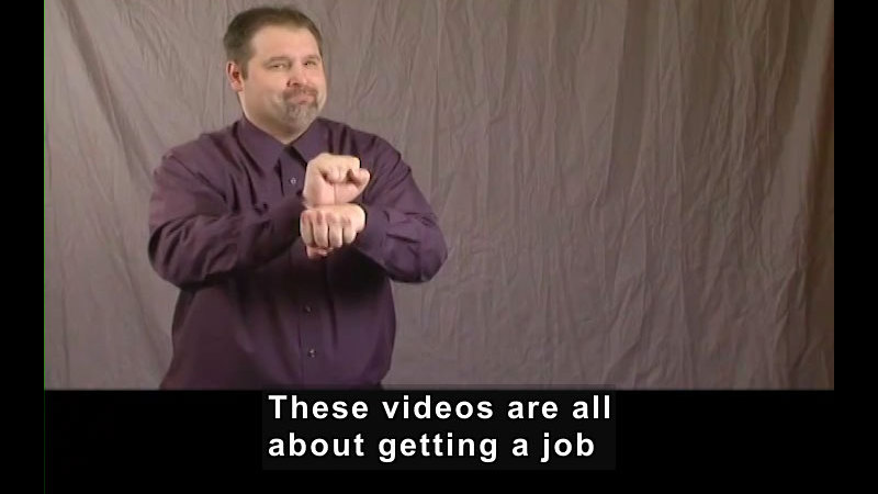 Still image from Getting a Job! for Students Who Are Deaf and Hard of Hearing: An Introduction