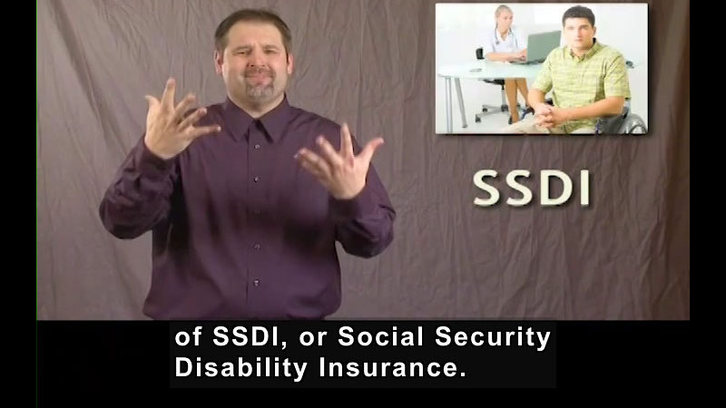 Still image from Getting a Job for Students Who Are Deaf and Hard of Hearing! Social Security Disability Insurance Program (SSDI)