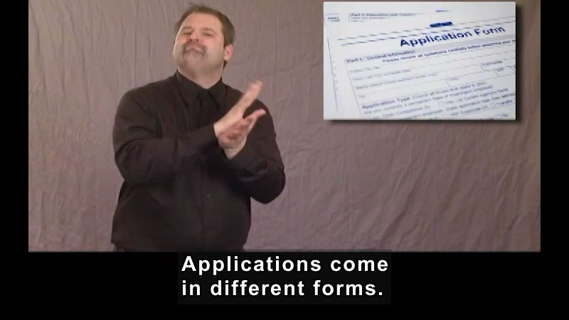 Still image from: Getting a Job! for Students Who Are Deaf and Hard of Hearing: Job Applications