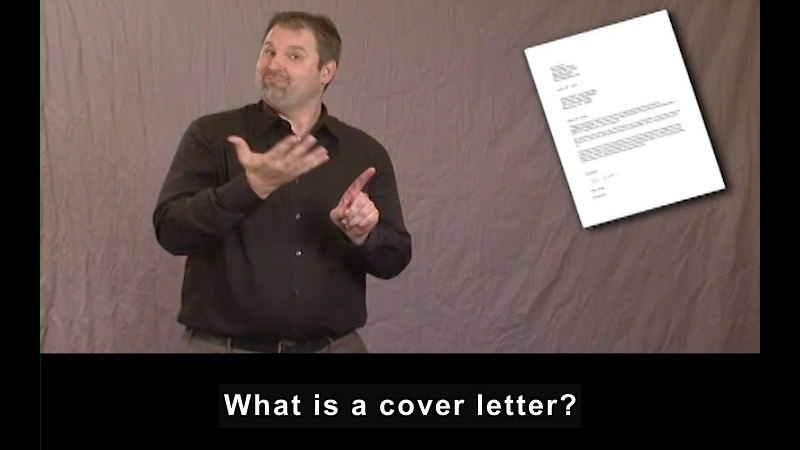 Still image from Getting a Job for Students Who Are Deaf and Hard of Hearing! Cover Letters