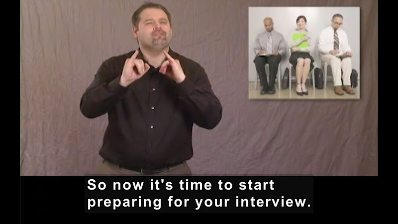 Still image from Getting a Job for Students Who Are Deaf and Hard of Hearing! How to Prepare for the Interview