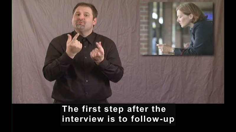 Still image from Getting a Job for Students Who Are Deaf and Hard of Hearing! After the Interview