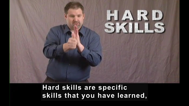 Still image from: Getting a Job! for Students Who Are Deaf and Hard of Hearing: Soft Skills Hard Skills