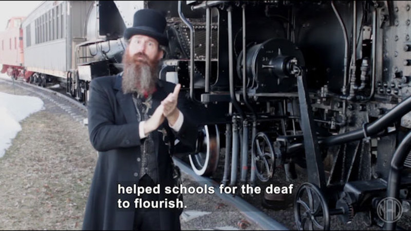 Still image from: Deaf History That: Transportation