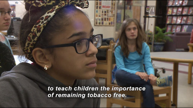 Still image from: Teen Kids News: Special on Tobacco (Tar Wars)