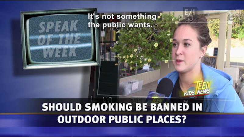Still image from: Teen Kids News: Special on Tobacco (Should Smoking Be Banned in Public Outdoor Spaces in CT?)