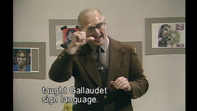 Still image from: Famous Deaf Americans - Part I