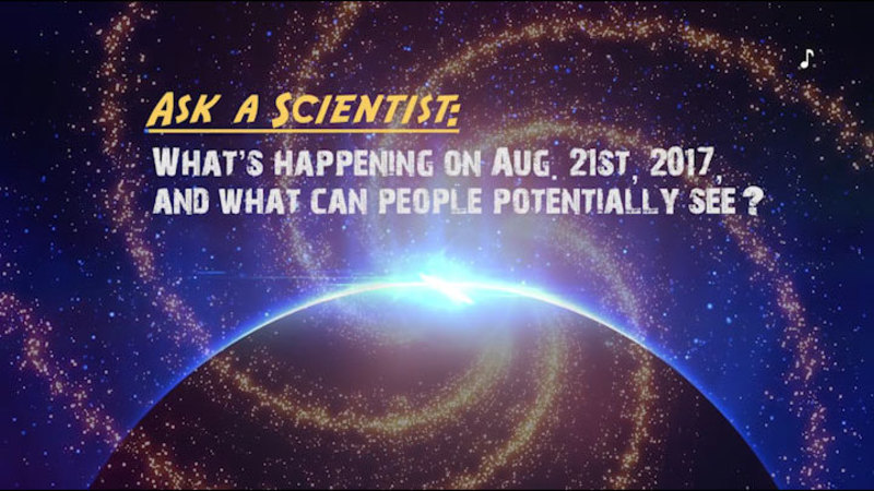 Bright light appearing behind the horizon of a planet. Ask a Scientist: What's happening on Aug. 21st, 2017? And what can people potentially see?