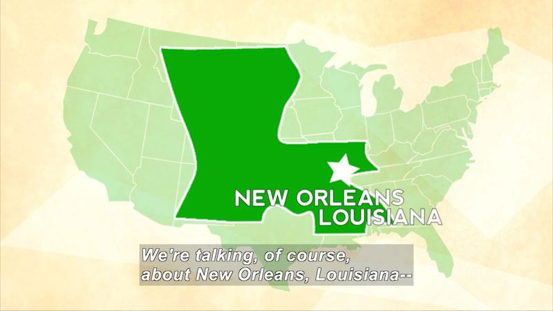 Still image from: Travel Thru History: New Orleans, LA