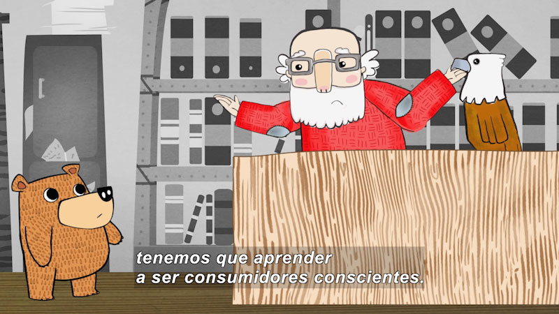 Still image from Eco S.O.S.--Responsible Consumerism (Spanish)