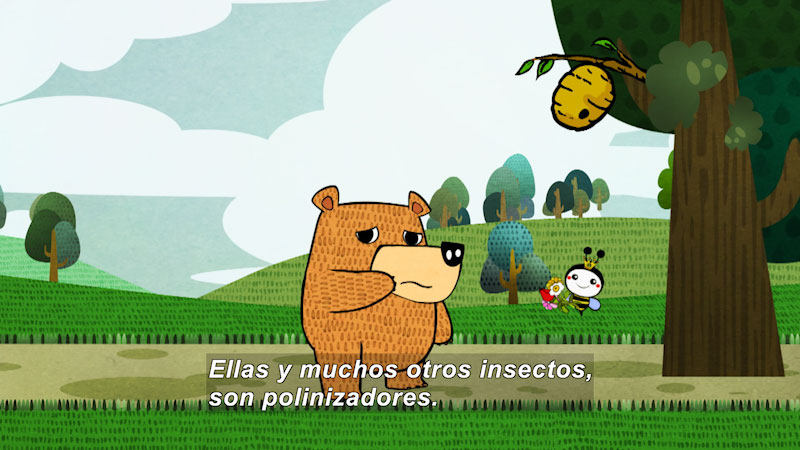 Still image from Eco S.O.S.--Pollination (Spanish)