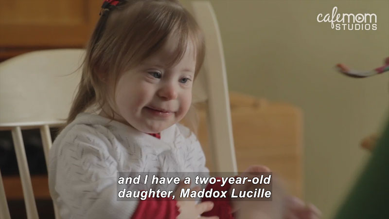 Still image from: Our Special Life: A Girl With Down Syndrome (The McClintic Family)