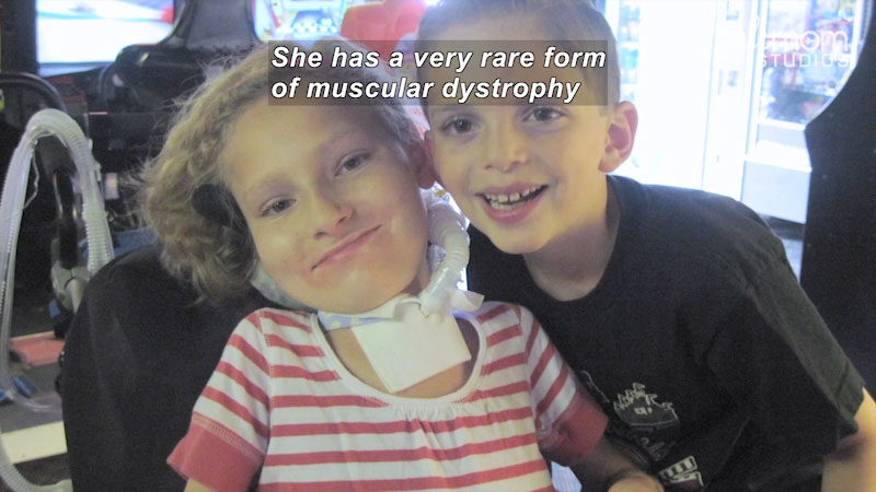 Still image from: Our Special Life: Muscular Dystrophy Is Just Part of Their Lives (The Markell Family)