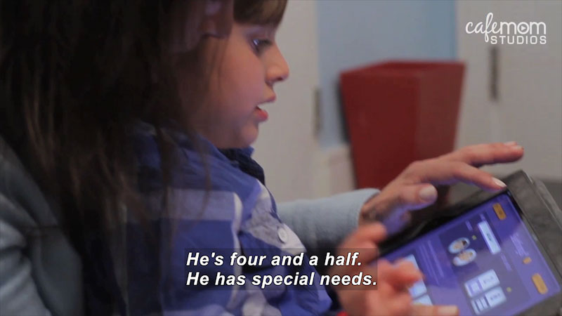 Still image from: Our Special Life: Special Needs, But No Diagnosis (The Azima Family)