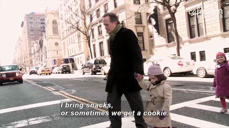 Still image from: On Broadway With Kids: Featuring Parents From Mamma Mia! -- Fitting It All In (Episode 3)