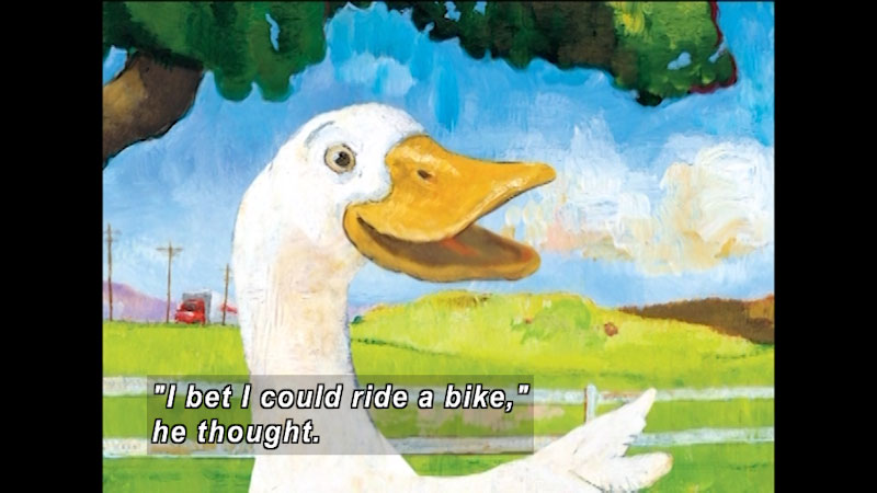 Still image from: Duck on a Bike