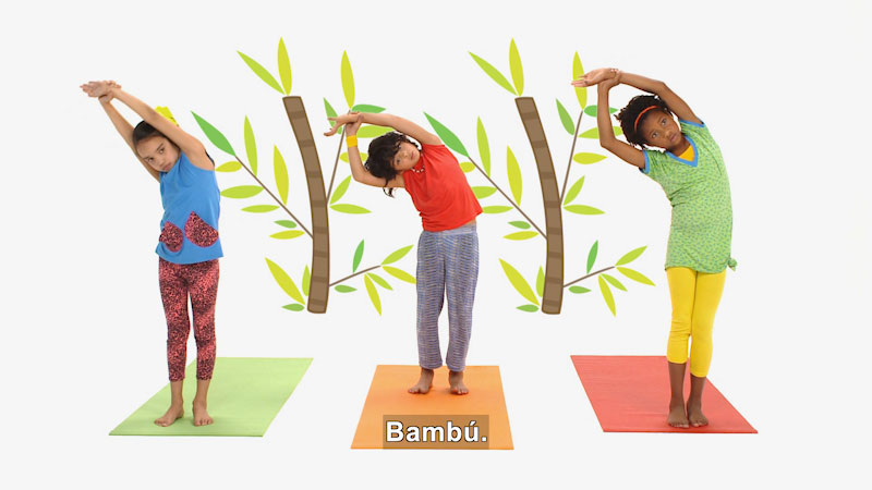 Still image from Ooommm Mmmooo Yoga For Children: Superstar Aisha--Energized (Spanish)