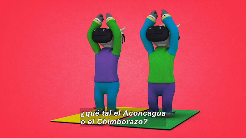 Still image from: Ooommm Mmmooo Yoga For Children: Inseparable Pati & Ani--Confidently (Spanish)