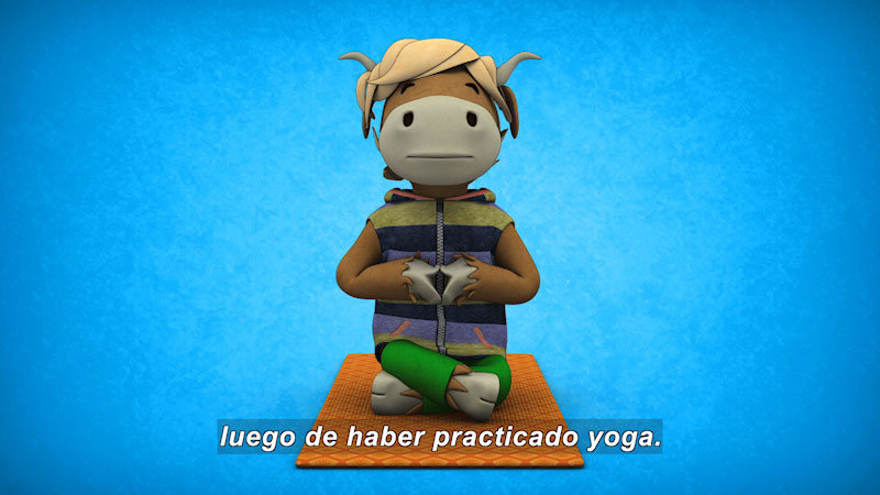 Still image from Ooommm Mmmooo Yoga For Children: Green Willy--Spread Your Wings (Spanish)