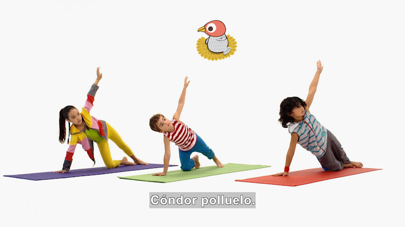 Still image from Ooommm Mmmooo Yoga For Children: Harmonious Flora--Balanced (Spanish)