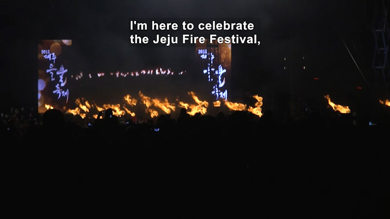 Still image from Bare Feet With Mickela Mallozzi: Jeju Fire Festival